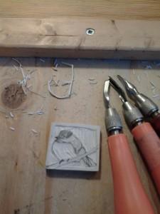 chickadee carving