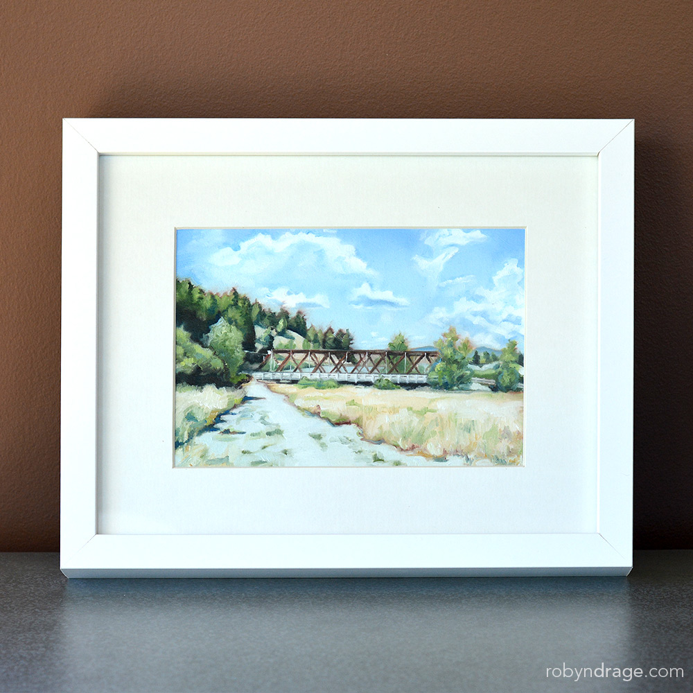 the bridge, painting, princeton bc