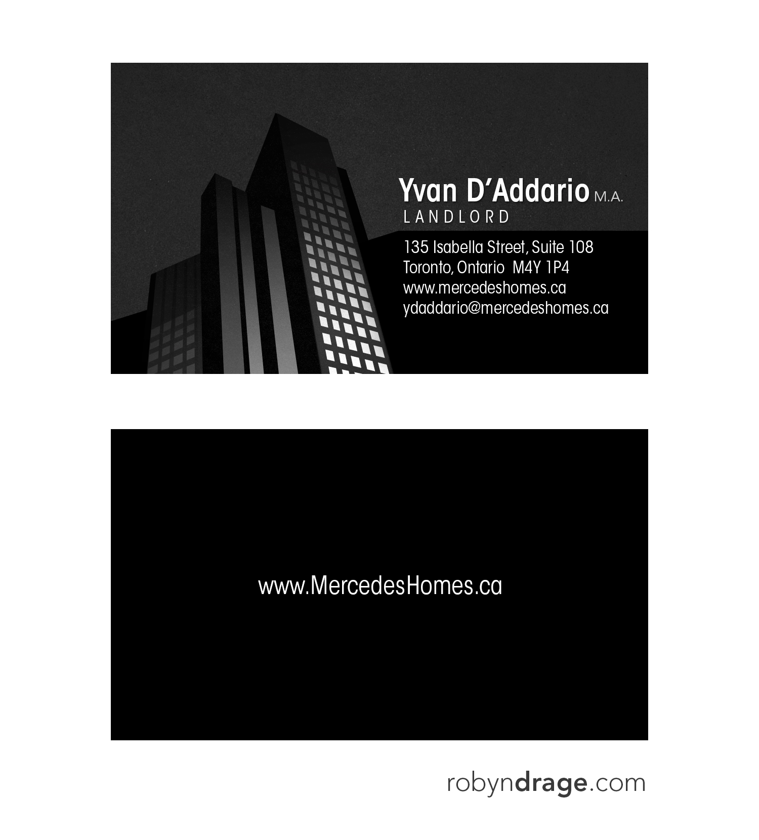 Web graphic design robyn drage business cards real estate landlord reheart Choice Image